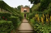 Summerhouse. garden scene — Stock Photo