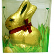 Wrapped Chocolate Easter bunny in a box. gift — 图库照片 #57485657
