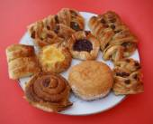 Danish pastries & doughnut. confectionery. dessert — Stock Photo
