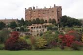 Garden, The fall season, Autumn. Powis Castle, Wales, England — Stock Photo