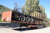 Trailer with Pallets — Foto Stock
