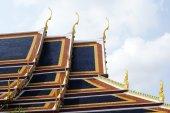 Roof, Wat Phra Kaew, Emerald Buddha temple, Bangkok, Thailand — Stock Photo