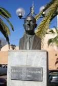 Nikolosv Tomadakis monument, Chania, Crete, Greece — Stock Photo