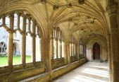 Cloisters of Lacock Abbey, Chippenham, Wiltshire, England — Stock Photo