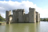 Bodiam Castle, Robertsbridge, East Sussex, England — Stock Photo