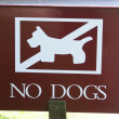 Постер, плакат: Sign no dogs no dogs sign