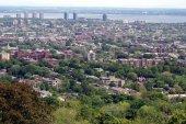 Urban aerial scene of Montreal city, Quebec, Canada — Stock Photo