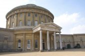 Ornate old architecture. outdoor view. Ickworth, Suffolk, England — Stock Photo