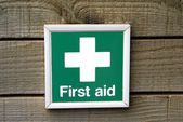 Sign. first aid. first aid sign — Stock Photo