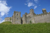 Castellated tower, Arundel Castle facade, West Sussex, England — Stock Photo