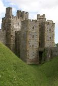 Kanteel torens, Arundel Castle gevel, West Sussex, Engeland — Stockfoto