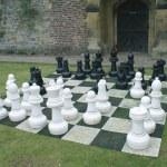 Chess board in garden — Stock Photo #64019797