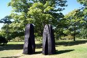Wooden sculptures, Royal Botanic Gardens, Kew, London, England — Stock Photo