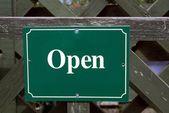 Open. sign. open sign — Stockfoto