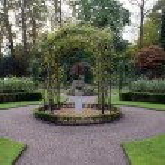 Rose garden, Warwick Castle, Warwick , Warwickshire, England — Stock Photo #66295003