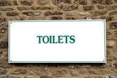 Toilets sign — Stock Photo