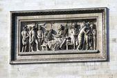 Close-up to Arc de Triomphe, Paris, France — Stock Photo