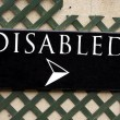 Disabled sign — Stock Photo #68411801