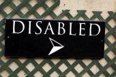 Com deficiência de sinal — Fotografia Stock