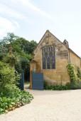 Entrance of a British church — Stock Photo