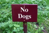No dogs sign — Stock Photo