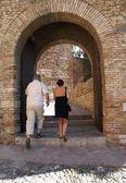 Tourism, Castle of Gibralfaro in Malaga, Andalusia, Spain — Stock Photo