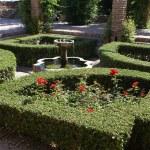 Alcazaba of Malaga fountain. Castle of Gibralfaro in Malaga, Andalusia, Spain — Stock Photo #72587171