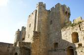 Bodiam Castle in Bodiam, Robertsbridge, East Sussex, England — Stock Photo
