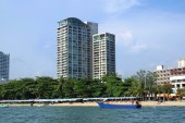 The seaside or the beach of Pattaya city in Thailand, Asia — Stockfoto