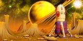 Orange Planet — Stock Photo