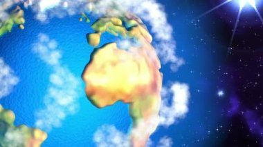 Cartoon Earth from Space — Vidéo