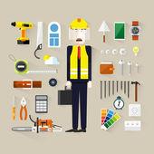 Builder. — Vettoriale Stock