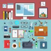 Flat design.Offic e Worker. — Stockvektor