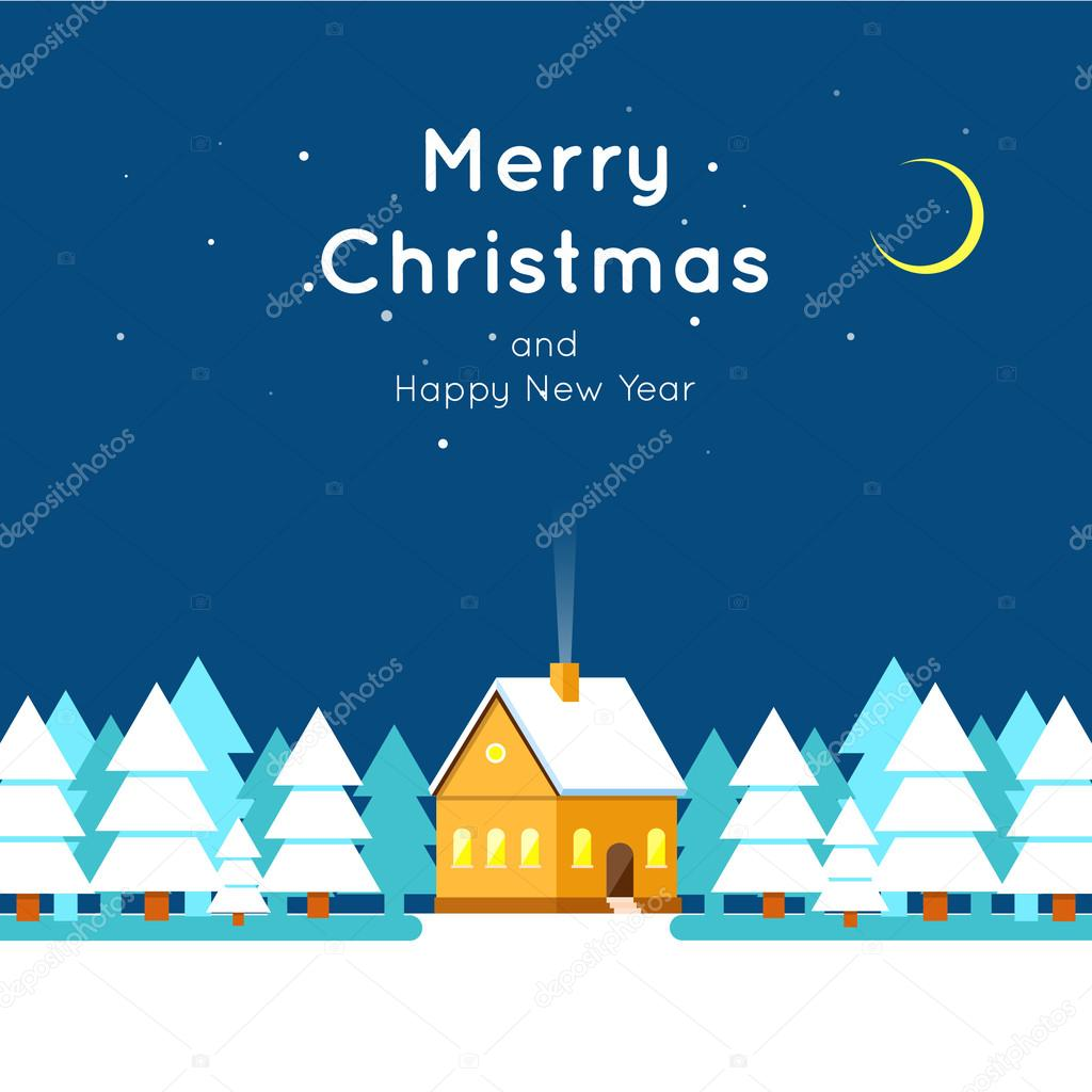 - Merry Christmas and Happy New Year greeting card templates. Poster ...