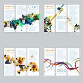 Set flyer, brochure, banners — Vector de stock