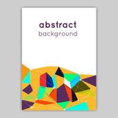 Brochures with geometric elements — Stock Vector