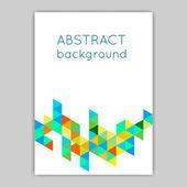 Brochures with geometric elements — Stockvector