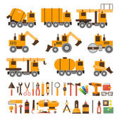 Construction machines and tools — Vetor de Stock