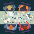 Business meeting and brainstorming — Stock Vector #67065321
