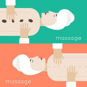 Woman getting massage lying down. — Stockvector