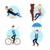 Outdoor activities illustrations. — Stok Vektör