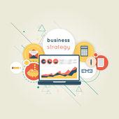 Web analytics stragety elements — Stock Vector