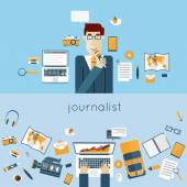 News anchor, paparazzi profession. — Stock Vector