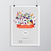 Bar w salonie party plakat — Wektor stockowy