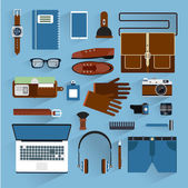 Man accessories flat style. — Stock Vector