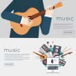 Music gadgets and instruments — Stock Vector #77919320