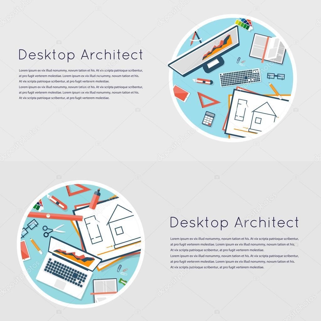 Planification sur la vue de dessus papier projet architectural plan architectural technique du projet ingénierie pour la construction de maisons