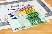 Share with Euro banknotes — Zdjęcie stockowe