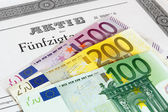 Share with Euro banknotes — ストック写真