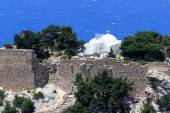 The castle of Monolithos in Rhodes, Greece — Stock Photo